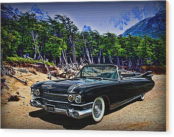 1959 Cadillac Eldorado Biarritz Convertible Wood Print by Tim McCullough