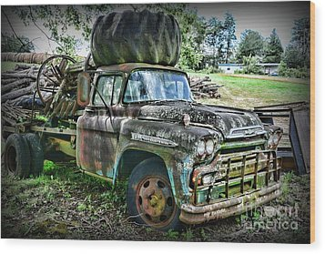 Wood Print featuring the photograph 1959 Chevrolet Viking 60 by Paul Ward