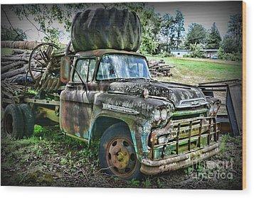 1959 Chevrolet Viking 60 Wood Print by Paul Ward