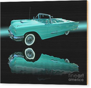 1959 Ford Thunderbird Wood Print by Jim Carrell