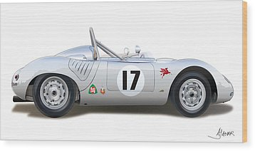 1959 Porsche Type 718 Rsk Spyder Wood Print
