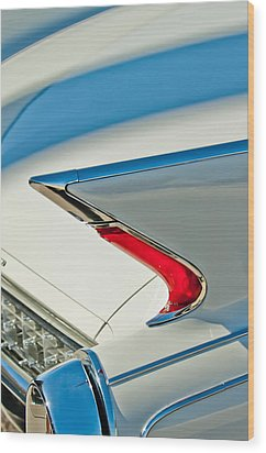 1960 Cadillac Eldorado Biarritz Convertible Taillight Wood Print by Jill Reger