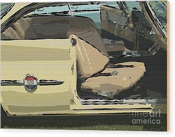 Wood Print featuring the photograph 1960 Chrysler 300-f  Muscle Car by David Zanzinger