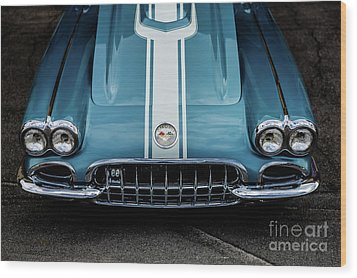 Wood Print featuring the photograph 1960 Corvette by M G Whittingham