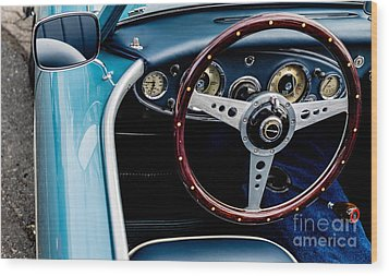 Wood Print featuring the photograph 1961 Austin Healey 3000 by M G Whittingham