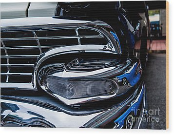Wood Print featuring the photograph 1958 Ford Crown Victoria by M G Whittingham