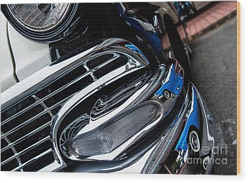 Wood Print featuring the photograph 1958 Ford Crown Victoria Reflection 2 by M G Whittingham
