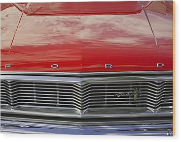 1960s Ford Galaxie Wood Print by Robin Lewis
