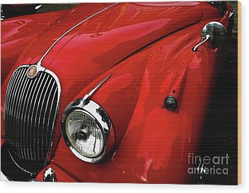 Wood Print featuring the photograph 1960s Jaguar by M G Whittingham