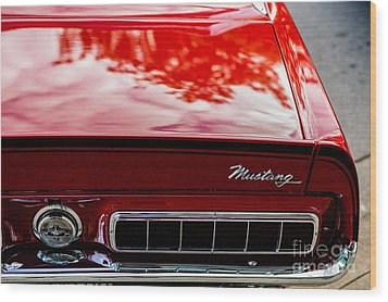 Wood Print featuring the photograph 1967 Mustang by M G Whittingham