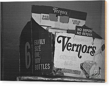 1960's Vernors Box. No Deposit, No Rerurn  Wood Print by Sandra Church