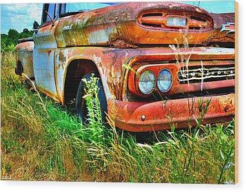 1961 Chevrolet Apache 10 5 Wood Print