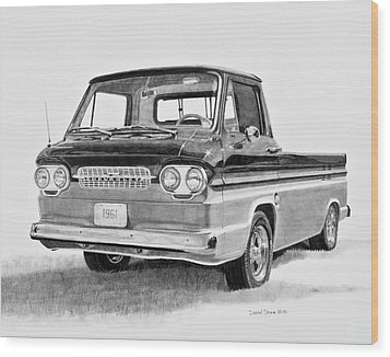 1961 Chevrolet Corvair Rampside Wood Print by Daniel Storm