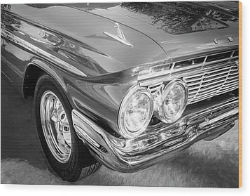1961 Chevrolet Impala Ss Bw Wood Print by Rich Franco