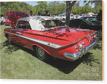 1961 Chevrolet Impala Ss Convertible . 5d16265 Wood Print by Wingsdomain Art and Photography