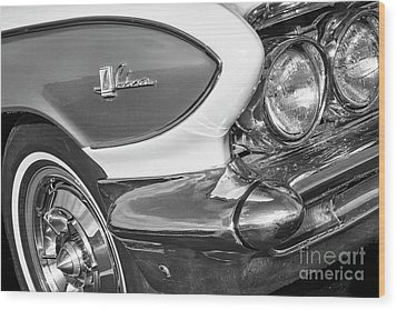 Wood Print featuring the photograph 1961 Le Sabre Monotone by Dennis Hedberg