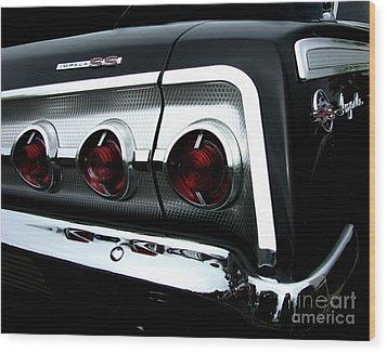 1962 Chevrolet Impala Tail Wood Print by Peter Piatt