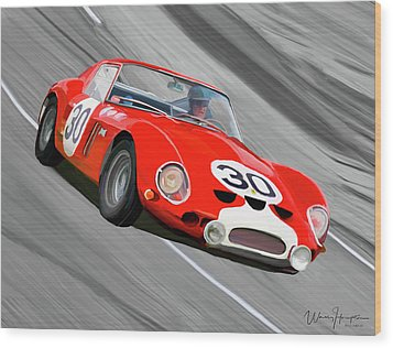 1962 Ferrari 250 Gto Wood Print by Wally Hampton