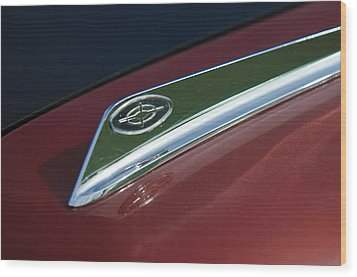 1963 Ford Galaxie Hood Ornament Wood Print by Jill Reger