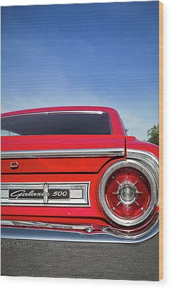1964 Ford Galaxie 500 Taillight And Emblem Wood Print