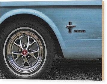 1964 Ford Mustang Wood Print by Gordon Dean II