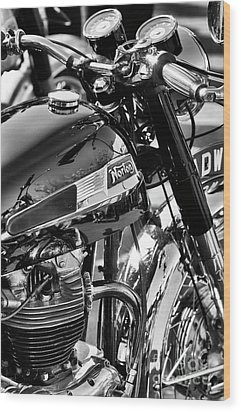 Wood Print featuring the photograph 1964 Norton Atlas by Tim Gainey