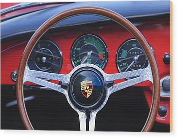 1964 Porsche C Steering Wheel Wood Print by Jill Reger