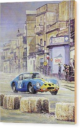 1964 Targa Florio Ferrari 250 Gto Wood Print by Yuriy Shevchuk