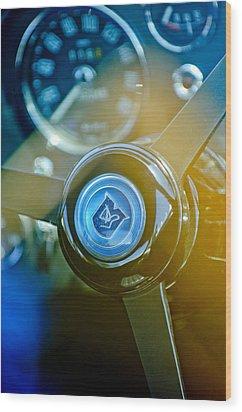 1965 Aston Martin Db5 Coupe Rhd Steering Wheel Wood Print by Jill Reger