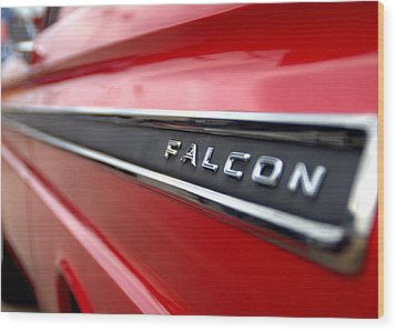 1965 Ford Falcon Name Plate Wood Print by Brian Harig
