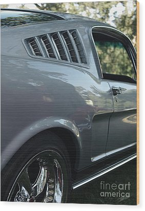 1965 Ford Mustang Wood Print by Peter Piatt