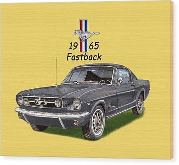 1965 Mustang Fastback Wood Print by Jack Pumphrey