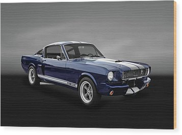 1965 Shelby Ford Mustang Gt 350 Fastback - 65fdmusgt973 Wood Print by Frank J Benz