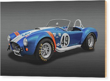 Wood Print featuring the photograph 1966 427 Shelby Cobra  -  1966427shelbycobrafa170660 by Frank J Benz