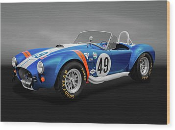 Wood Print featuring the photograph 1966 427 Shelby Cobra  -  1966shelby427cobragry170660 by Frank J Benz