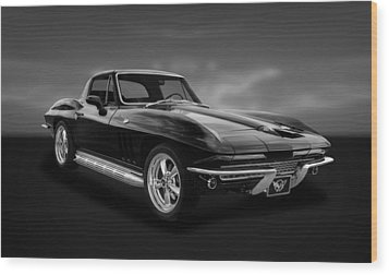 1966 C2 Chevrolet Corvette  -  66vtbw33 Wood Print