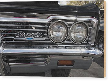1966 Chevy Impala Chrome Wood Print