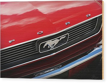 Wood Print featuring the photograph 1966 Ford Mustang by Gordon Dean II
