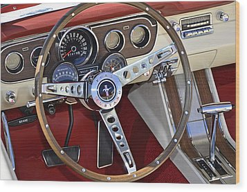 1966 Mustang Wood Print