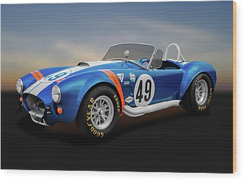 Wood Print featuring the photograph 1966 Shelby Cobra  -  1966shelbycobra427170660 by Frank J Benz