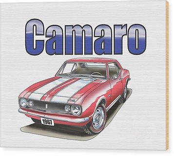 1967 Camaro Wood Print by Thomas J Herring