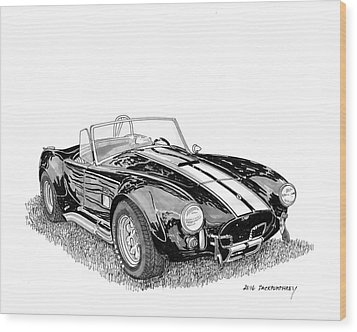 Wood Print featuring the painting 1967 Cobra Sc by Jack Pumphrey