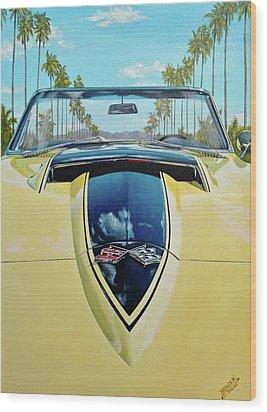1967 Corvette 427 Convertible Wood Print by Branden Hochstetler
