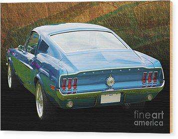 1967 Mustang Wood Print