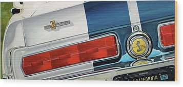 1967 Shelby Gt500 Wood Print by Branden Hochstetler