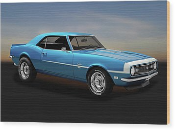 Wood Print featuring the photograph 1968 Chevrolet Camaro Super Sport 350   -  1968camaross350170414 by Frank J Benz