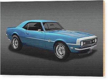 1968 Chevrolet Camaro Super Sport 350   -  1968chevcamaross350fa170414 Wood Print