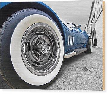 1968 Corvette White Wall Tires Wood Print