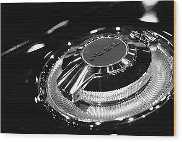 1968 Dodge Charger Fuel Cap Wood Print