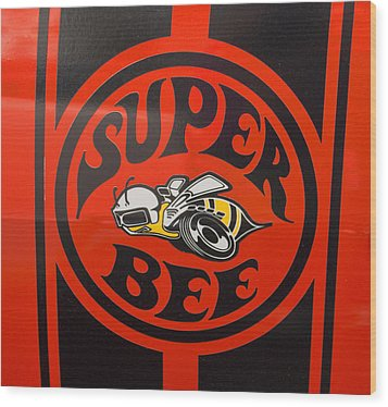 1968 Dodge Coronet Super Bee Emblem Wood Print